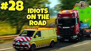 Euro Truck Simulator 2 Multiplayer: IDIOTS on the Road | Random & Funny Moments | #28
