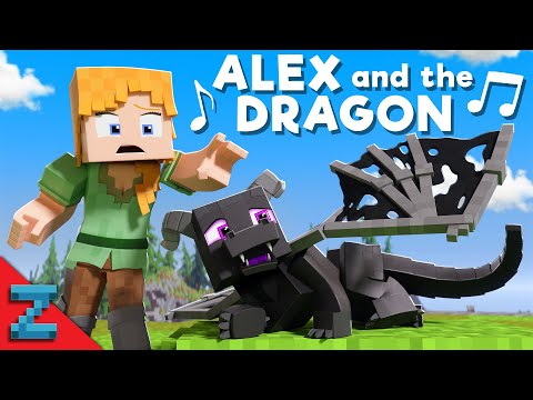 """""""Alex and the Dragon"""" [VERSION A] Minecraft Animation Music Video (\"""