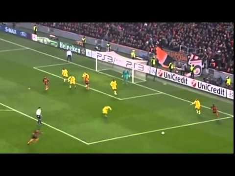 Шахтер Украина -  Арсенал Англия  1 тайм Лига Чемпионов 2010-11  4 й тур  Группа H