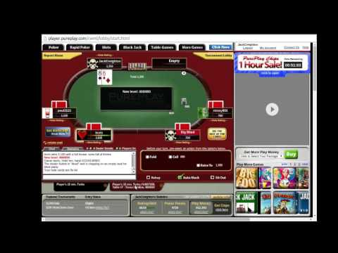Free PurePlay Online Poker 15 Minute Turbo Tournament - Texas Holdem