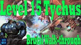 StarCraft 2: Level 15 Tychus Walk-through, Brutal Co-op Mission, Mastery Level 90+ (Malwarfare)