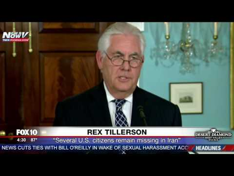 WATCH: Rex Tillerson Gives Update On Iran Nuclear Deal