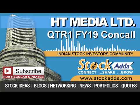 HT Media Ltd Investors Conference Call Qtr1 FY19