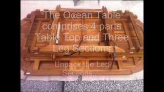 Oceanic Teak Furniture  Ocean Table Assembly Instructions
