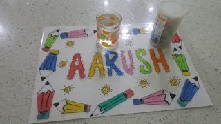 Handmade Personalized Table Mat For Kids | CraftLas