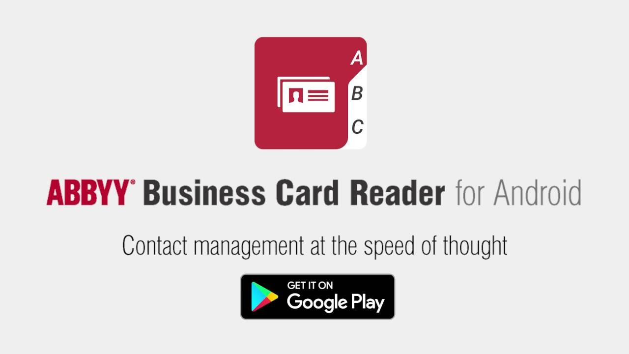 Abbyy Business Card Reader For Android Intelligence Speed Accuracy