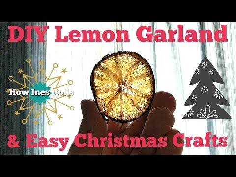 DIY Lemon Garland & Other Easy Christmas Crafts | Getting things CHRISMA-FIED!🎄 | *How Ines Rolls*
