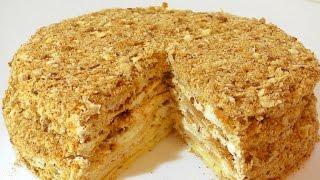 Торт Наполеон . Рецепт. Napoleon cake. Recipe.