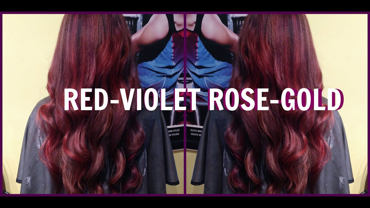 Red Violet Rose Gold Hair Teaser Youtube
