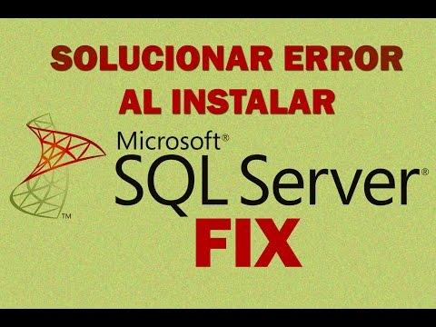 Solucionar Error al Instalar SQL Server