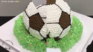 【美拍】做足球蛋糕的過程好療癒唷!