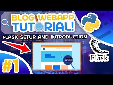 Python Blog Tutorial #1 - Flask Setup and Introduction