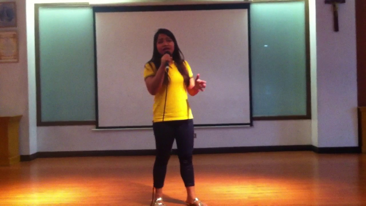 Siena College QC Student sings the cover of Christina ...