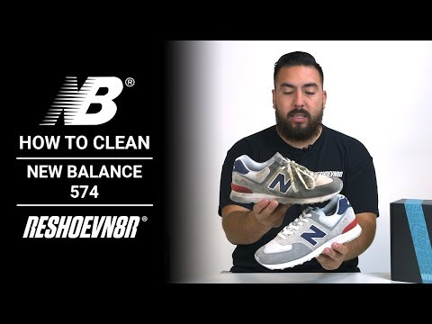 How To Clean #NewBalance 574s with Jonny Bubbles and #RESHOEVN8R