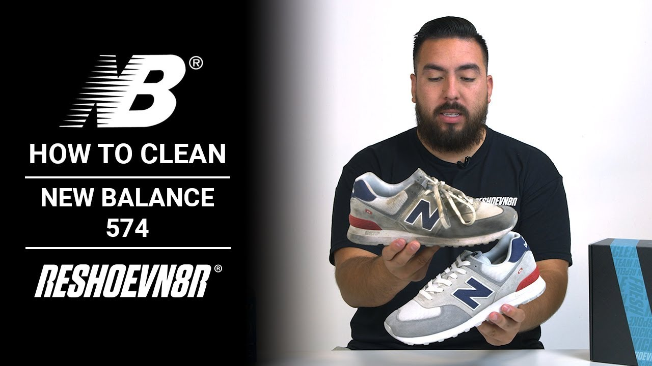 f5208f4b How To Clean #NewBalance 574s with Jonny Bubbles and #RESHOEVN8R