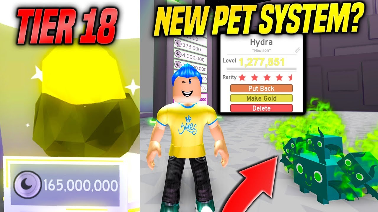 *NEW* TIER 18 PETS AND PET LEVEL SYSTEM IN PET SIMULATOR UPDATE!! *GAME  CHANGING* (Roblox)