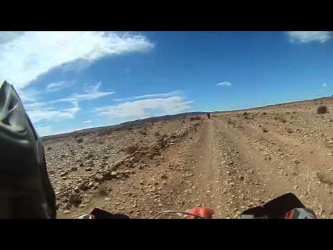 KTM 450 EXC ride on an old Paris Dakar Stage in Morocco