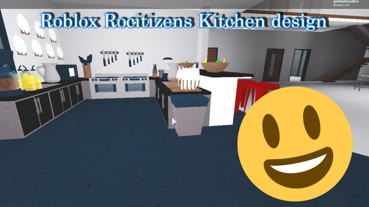 Contemporarian Kitchen Design Tutorial Roblox Rocitizens Tutorials Youtube
