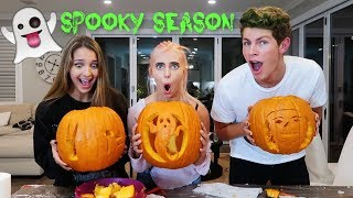 CARVING PUMPKINS WITH LEXI RIVERA & BEN AZELART !!!!