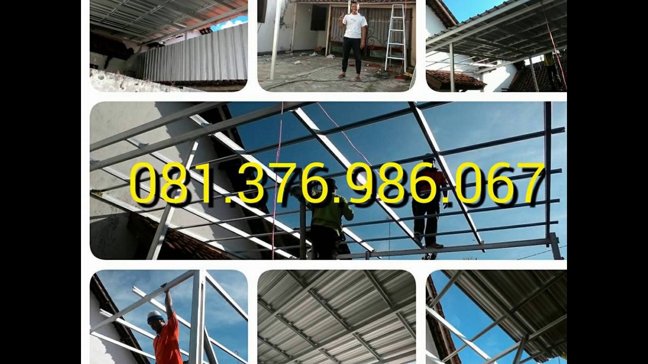 kanopi baja ringan kebumen wa 081 376 986 067 harga 1 youtube