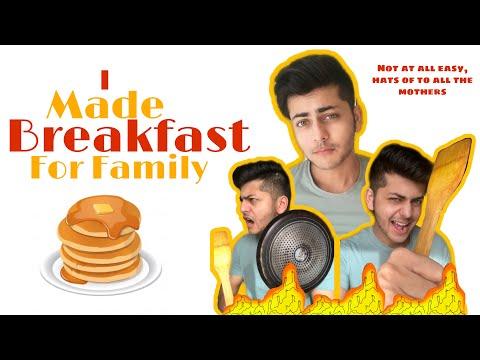 Made Breakfast for my family! | Abhishek Nigam |  New YouTube Video |