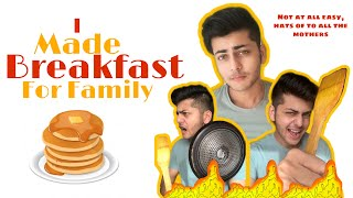 Made Breakfast for my family! | Abhishek Nigam |  New YouTube Video |