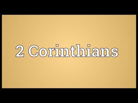 Header of 2 Corinthians