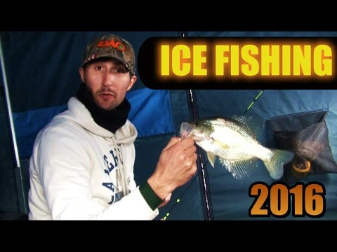 ICE FISHING 2016 Panfish at Black Moshannon & Lake Arthur Pennsylvnania