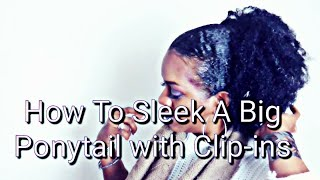HOW TO SLEEK A BIG PONYTAIL WITH CLIP-INS | ZURY NATURALI STAR CLIP-INS | whoIsJasmineblack
