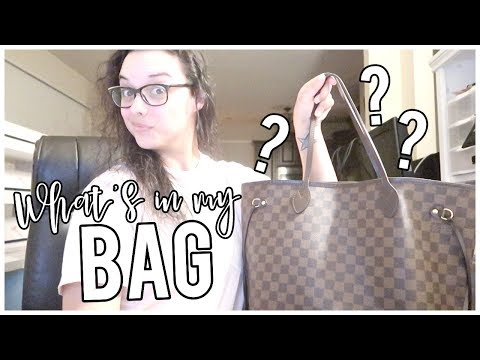 What's In My Bag + Cleaning Vlog   Louis Vuitton Neverfull MM Cherry