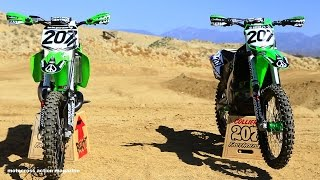 Sean Collier's KX500 versus KX450 with Motocross Action Magazine