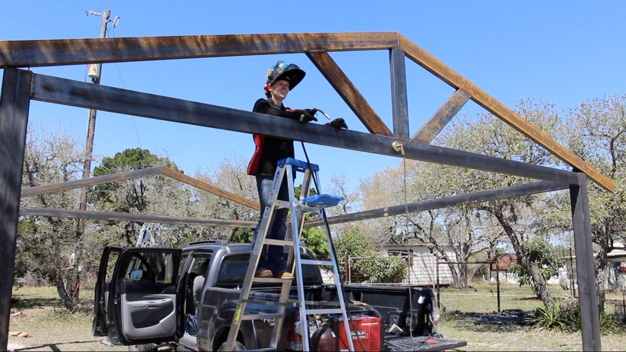 How To Build A Metal Carport Part 1 Doovi