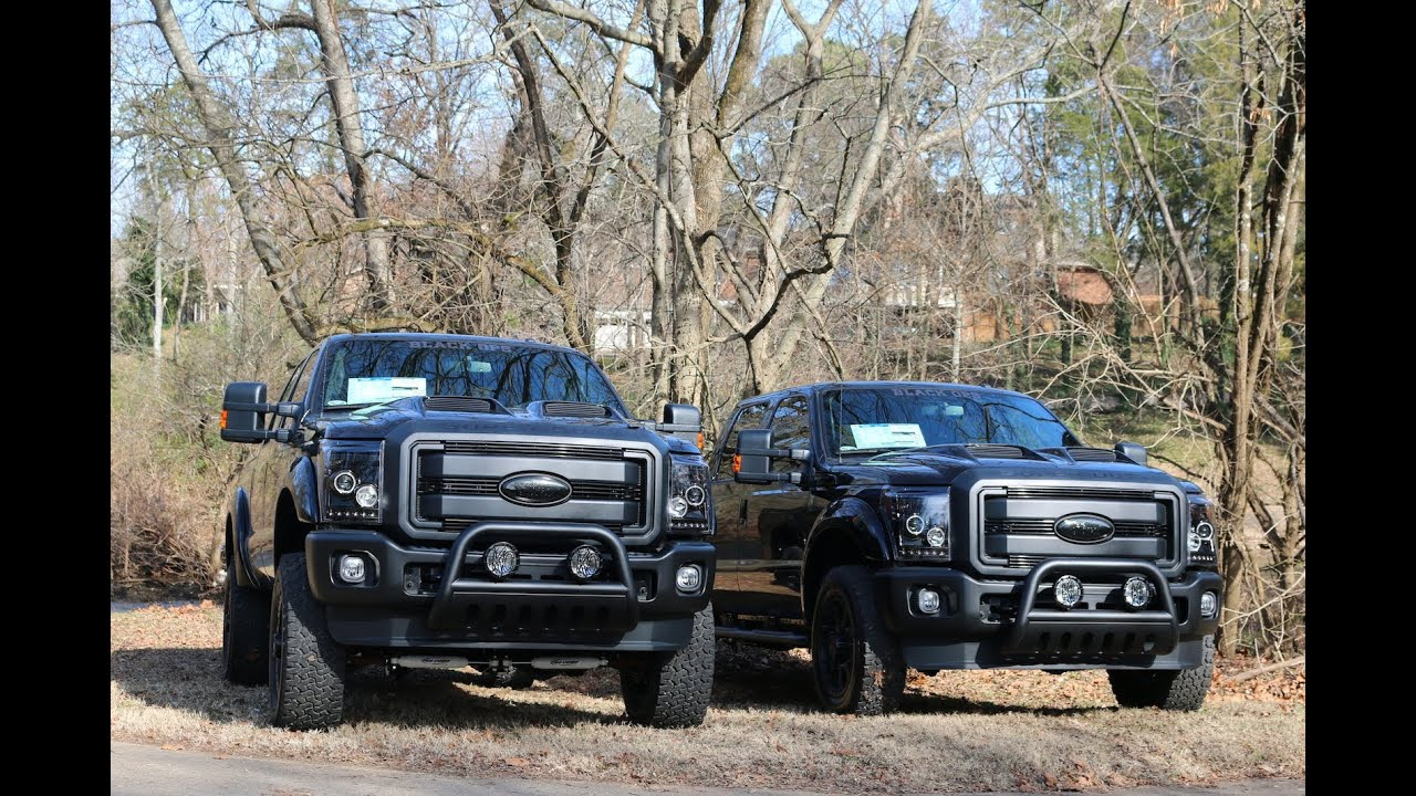 "F250 Black Ops 6"" Lift vs 2"" Level - Ford Of Murfreesboro - YouTube"