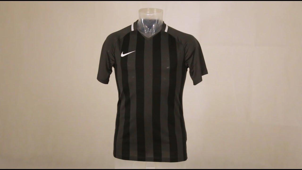 4a8212ce4 Nike Striped Division III Short Sleeve Senior Football Shirt Anthracite /Black