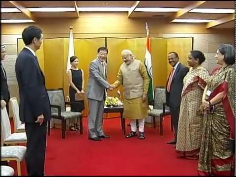 PM Modi meets the Governor of Kyoto Prefecture Keiji Yamada, in Kyoto