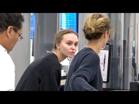 LilyRose Depp And Vanessa Paradis Are TSA Twins!