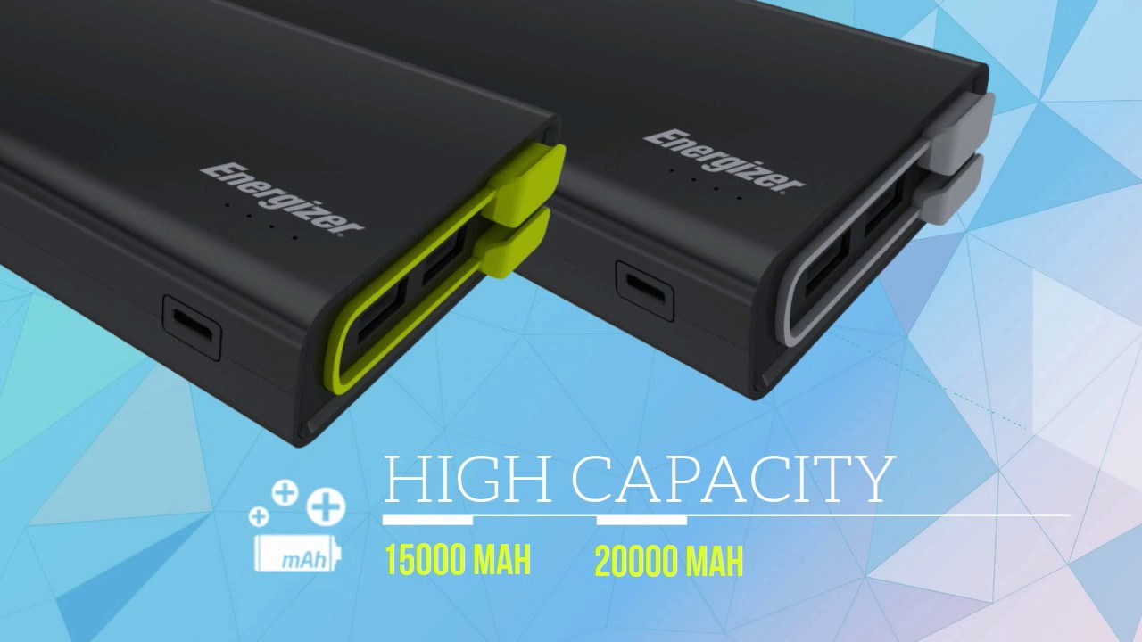 Energizer® High Capacity Power Bank with Charging Cable (UE15001_UE20001)