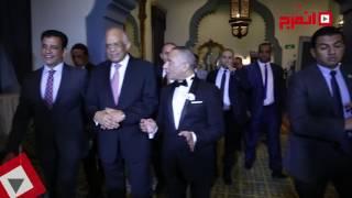 بالفيديو والصور.. رئيس البرلمان في زفاف ابنة أحمد موسى