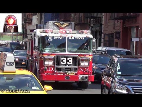 FDNY Engine 33 + FDNY Ambulance 385 + NY Presbyterian