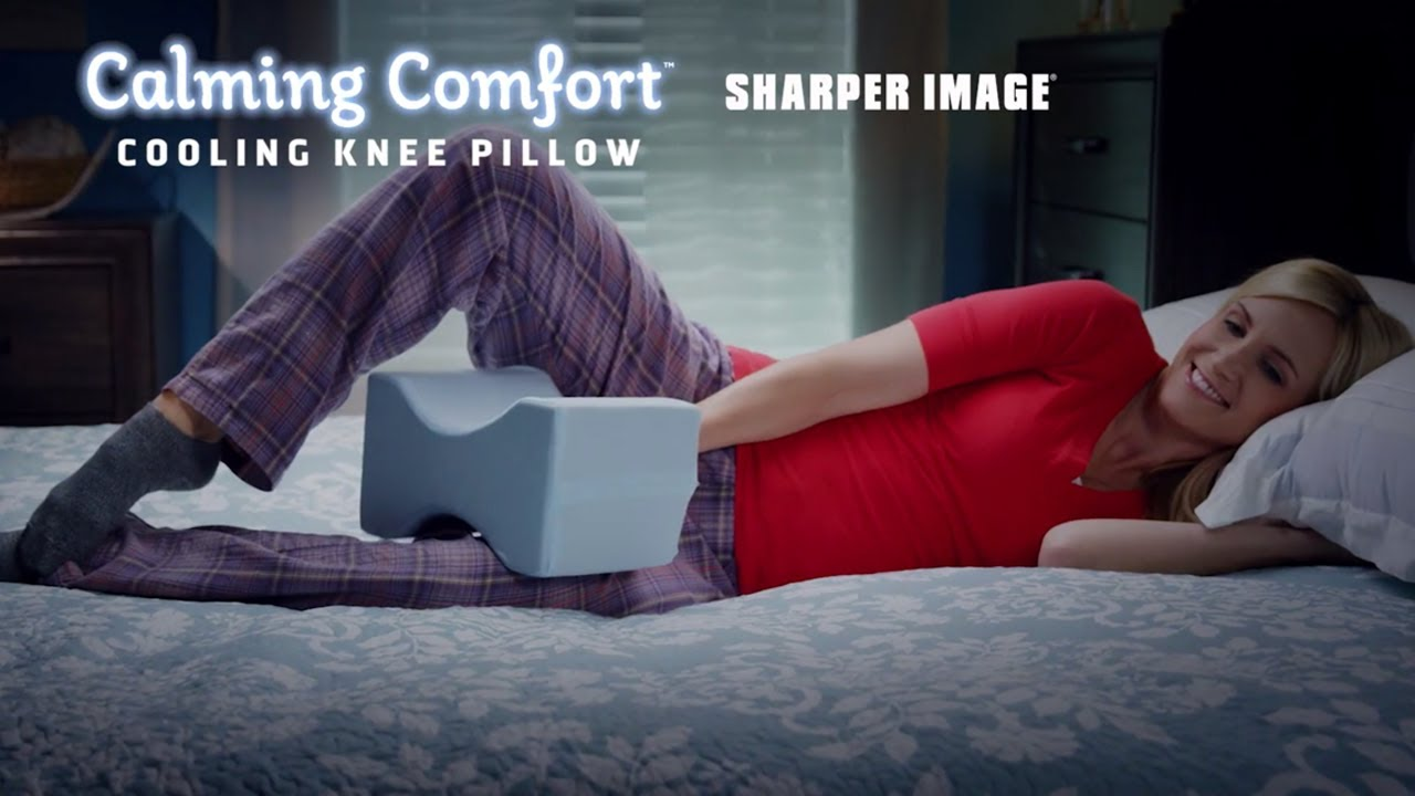 calming comfort knee pillow align your hips spine with cooling gel technology