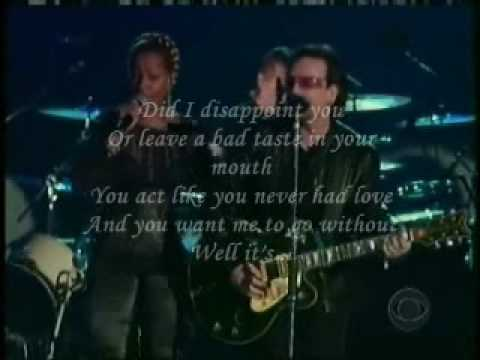 U2 & MARY BLIGE - ONE w/ lyrics