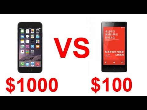 1000 iphone 6 vs 100 hongmi redmi 1s youtube. Black Bedroom Furniture Sets. Home Design Ideas