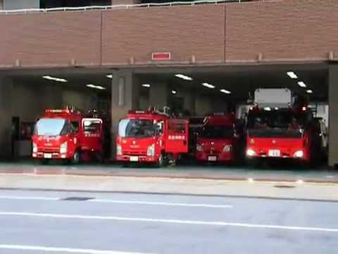 東京消防庁池袋消防署 火災出場!  Fire engines responding from Ikebukuro Fire Sta. of Tokyo Fire Department .
