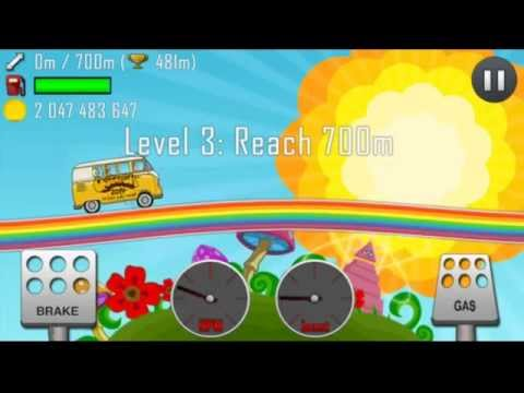 Hill Climb Racing 1.17.0 New vehicle:Hippie Van,New level:Rainbow
