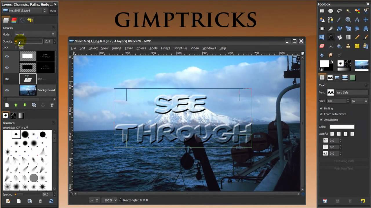 how to add ttf to gimp