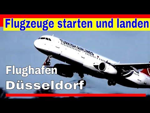 Flughafen Düsseldorf - Flugzeuge starten und landen