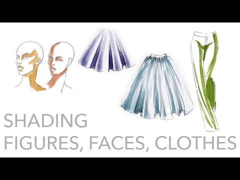 Fashion Illustration Tutorial: Shading Figures, Faces, Cloth