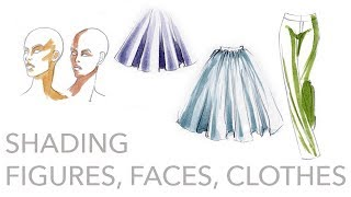 Fashion Illustration Tutorial: Shading Figures, Faces, Clothing