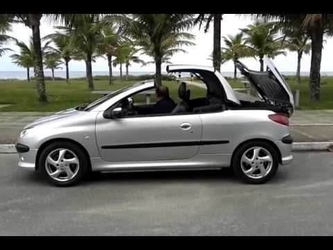 peugeot 206 conversivel youtube. Black Bedroom Furniture Sets. Home Design Ideas