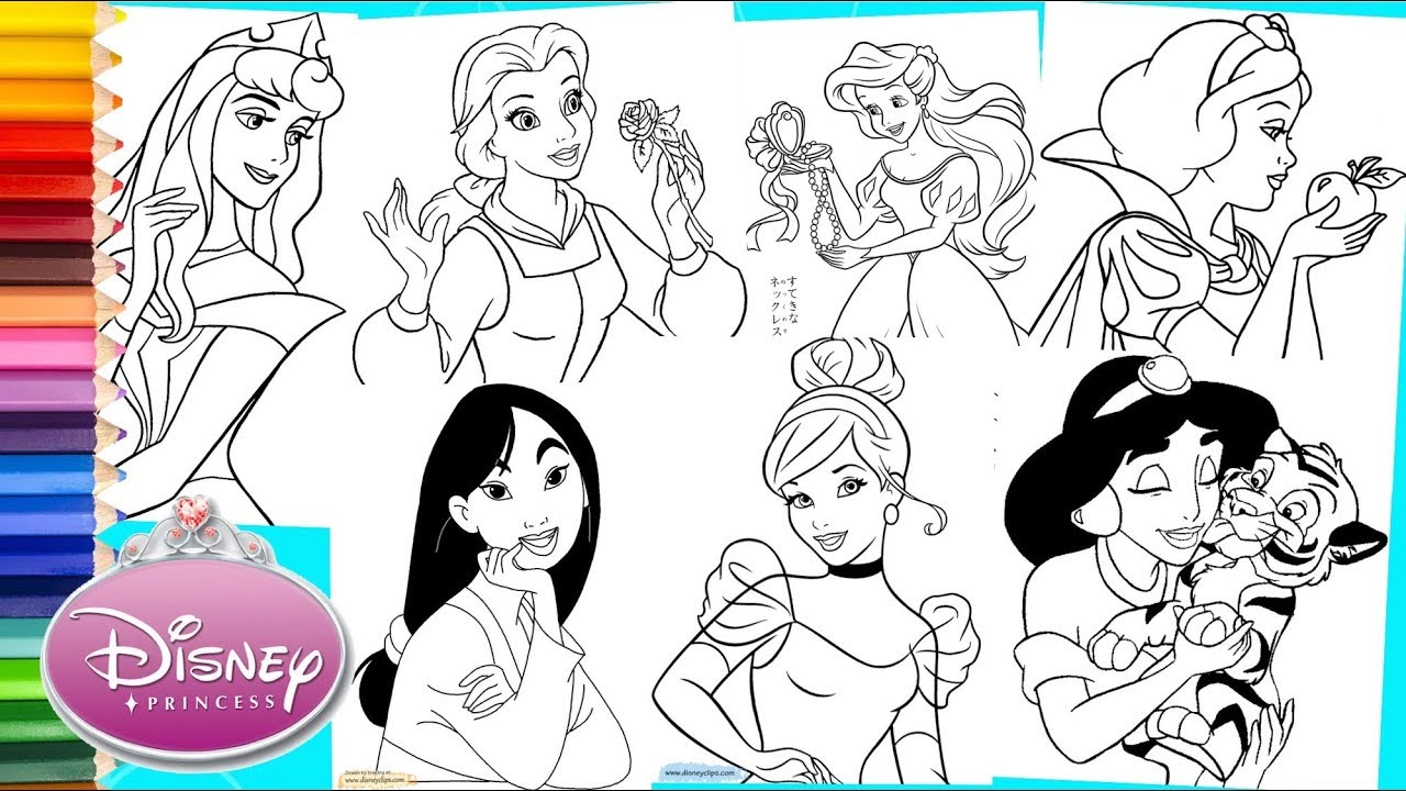 Disney Princess Coloring Pages Jasmine and Aladdin | Disney ... | 720x1280